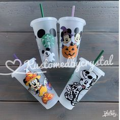 Personalized Starbucks Cup, Custom Starbucks Cup, Starbucks Logo, Personalized Cups, Starbucks Halloween, Halloween Cups, Disney Halloween, Halloween Movies, Coffee Cup Cozy