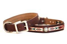 Western Leather Dog Collar | Southwestern Dog Collar