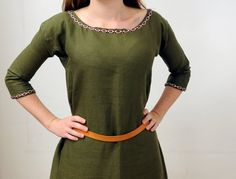 5cf8440cbe Medieval women s linen tunic dress on order. For Lombard
