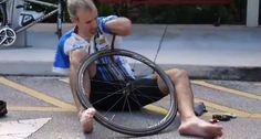 INCRÍVEL, Como Mudar Um Pneu De Bicicleta Sem Mãos