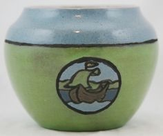 "Saturday Evening Girls SEG 4 5"" Vase w SHIP Seascape by Albina Mangini 1920 Mint"