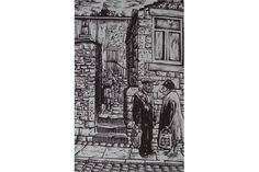 ROGER HAMPSON (1925 - 1996) LINOCUT 'Accrington Conversation' Signed, titled and numbered 3/10 12