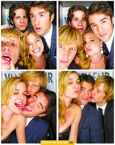 Emily VanCamp, Gabriel Mann, Connor Paolo and Joshua Bowman Revenge
