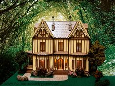 Handcrafted Quarter Scale Mayfield Manor, a Tudor Home at Norman's Country Creek