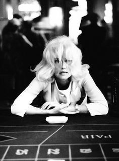 Jeanne Moreau on the set of Jacques Demy's Bay of Angels, 1963. Photo: Raymond Cauchetier. Costumes: Pierre Cardin.