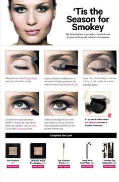 a basic smokey eye tutorial you can apply yo any color scheme