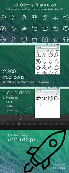 I'm delighted to share with you Icons8, an app for Mac that searches through more then 2800 icons for iOS 7 and...