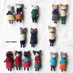 23 Clever DIY Christmas Decoration Ideas By Crafty Panda Needle Felted Cat, Needle Felted Animals, Felt Animals, Wool Felting, Felt Fabric, Fabric Dolls, Handmade Stuffed Animals, Felt Cat, Creation Couture