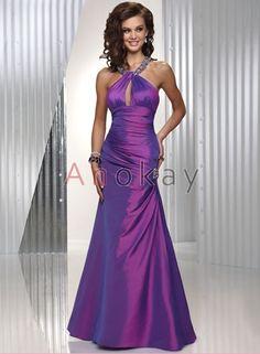 Träger Taft A Line Abendkleider PMS1305481