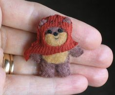 Ewok miniature plush Star Wars character  hand by wishwithme, $18.00
