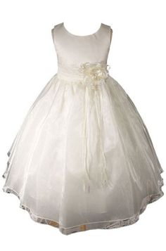 AMJ Dresses Inc Ivory Princess Flower Girl Wedding « Dress Adds Everyday