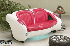couch pic | Cool car couch for car lovers | My desired home