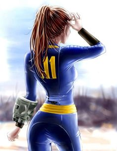 Gamer Girl Art I love video games and love that their are so many different types of art displaying these characters in games I love. Fallout Lore, Fallout Fan Art, Fallout Concept Art, Fallout Vault, Cosplay Fallout, Video Games Girls, Thicc Anime, Comic Games, Video Game Art