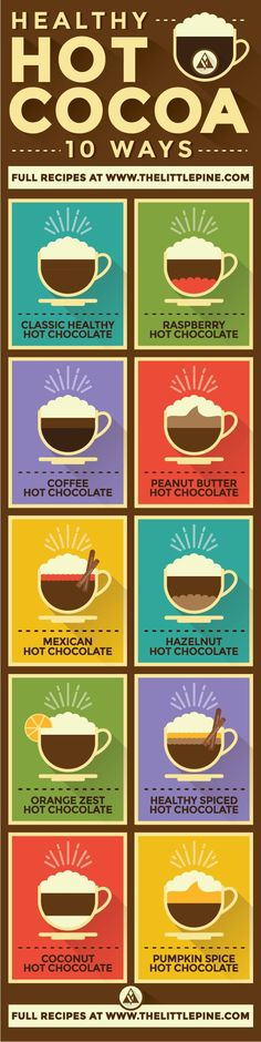 Healthy Hot Chocolate 10 Ways (Vegan + Paleo) The Chocoholic's Favorite Nightcap :)