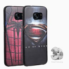 Marvel The Avengers batman case for Samsung Galaxy C5 C7 A9 2016 J3 J5 J7 Note7 Soft Silicon 3D Stereo Relief Cases cover coque