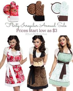 flirty apron sale, c