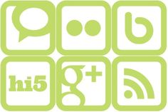 SimpleGreen Social Media Icons by Simplefly