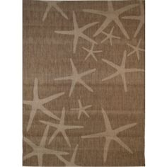 Balta Natural Star Fish Rectangular Brown Nature Indoor Outdoor Woven Area Rug Common