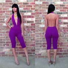 New Fashion Womens Bodycon Bodysuit One-Shoulder Backless Bodywear Jumpsuits