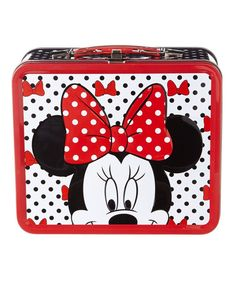 157138463db7 Disney Minnie Mouse Bows   Dots Tin Lunch Box by Loungefly Tin Lunch Boxes