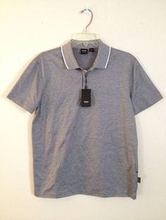 HUGO BOSS Men's Cotton Regular Fit Polo Shirt Bugnara 20 Sz Medium Black Stripe #HUGOBOSS #PoloRugby #Bugnara20 #Bugnara #PoloShirt #Polo #Golfshirt #Golf #MensShirt