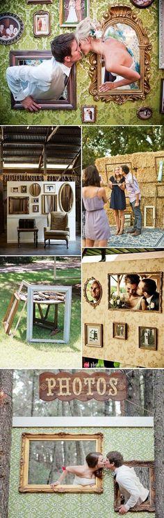 creative fun wedding photo booth ideas made of photo frames