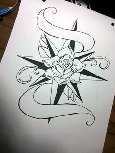 Rose Compass Old School Tattoo by ~Pompelina on deviantART