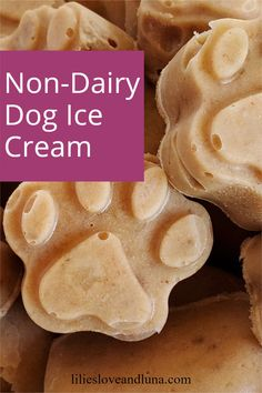 This easy to make dog ice cream is dairy free and only uses 2 ingredients.