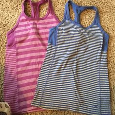 Champion Workout Tank Tops EUC Champion Striped Workout Tanks with built in bra. If you like to purchase only one only, please comment below! Champion Tops Tank Tops