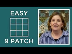Nine Patch Quilting Block - Beginner Block Quilting Series - YouTube
