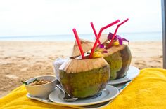 Fresh coconut on the beaches of Thailand. SO fresh. So delicious Coconut Drinks, Phuket Thailand, Weekend Getaways, Amazing Places, Beaches, The Good Place, Fresh, Food, Sands