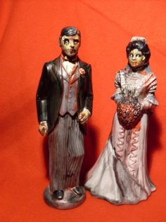Zombie Bride and Groom Cake Topper or Halloween by RufflesCraft, $37.00