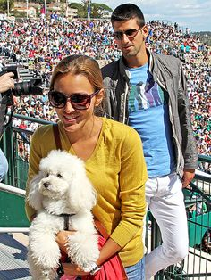 Who knew? NOVAK DJOKOVIC is a poodle man! The tennis champ's beloved poodle Pierre leads the way for him and and girlfriend Jelena Ristic: http://www.peoplepets.com/people/pets/gallery/0,,20585486,00.html#21144459