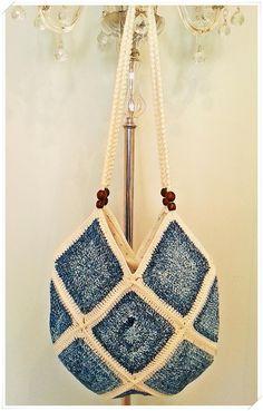 Crochet Bag, Crochet Beach Bag, Crochet Crossbody Bag, Crochet Shoulder Bag, Granny Square Bag, Summer Bag, Gift for Her