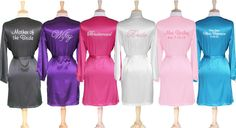 Satin robes for the whole bridal party!