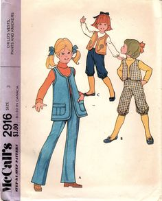 1970s McCall's 2916 UNCUT Vintage Sewing Pattern by midvalecottage