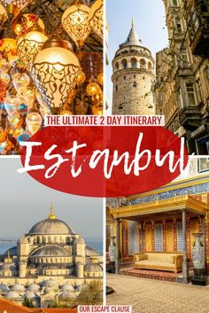 The ultimate 2 day itinerary for Istanbul: where to go, what to do & more. Planning to spend 2 days in Istanbul? This 2 day Istanbul itinerary will show you the best sights--find what to do, where to stay, what to wear, and more! Travel Blog, Europe Travel Tips, European Travel, Asia Travel, Travel Articles, Work Travel, Travel Guides, Visit Istanbul, Istanbul Travel
