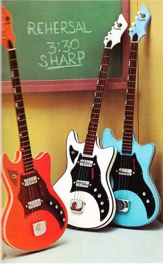 Kay K592-series Bass Guitars from 1967-68 catalog