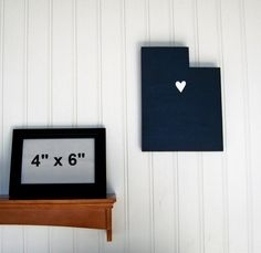 "BYU Cougars ""State Heart"" wall art - handcrafted wood with official team colors $29.00"