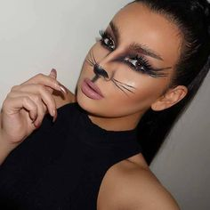 11 Black Cat Makeup Ideas for Halloween at CherryCherryBeauty.com