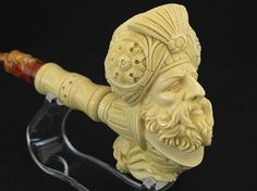Ottoman Dragon Meerschaum Pipe by Medet Kara of Etsy shop Meerco, $435.00 - Made to order #carving #pipe