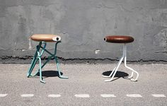 Playful Line of Stools by Phillip Grass