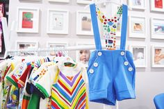 Little Bird By Jools Oliver blue ponte shorts with braces