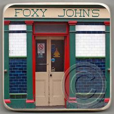 Foxy John's, Dingle, Irish Pub Marble Coaster.