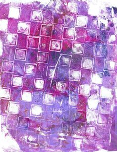 """Violet Squares"" original acrylic monotype by Sharon Giles Squares, City Photo, The Originals, Prints, Art, Art Background, Bobs, Kunst, Performing Arts"