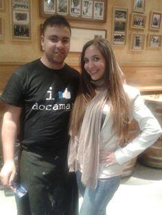 Nuestro Marouane con la cantante Rebeca Moscardó del programa La Voz