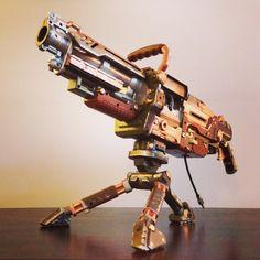 steampunk nerf gun   Steampunk Nerf Vulcan Fusion Engine conversion for Alan Mangilin ...