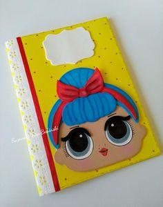 Capa em Eva para caderneta de vacinação tema LOL Foam Crafts, Easy Crafts, Diy And Crafts, Arts And Crafts, Cute Diary, Decorate Notebook, Ideas Para Fiestas, Lalaloopsy, Lol Dolls