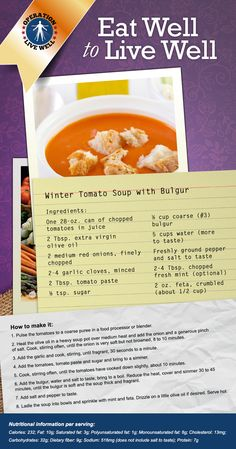 A tomato soup recipe with a twist! #OLW