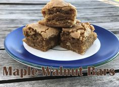 Maple-Walnut Bars – I Read Cookbooks for Fun Maple Walnut, Bar, Desserts, Food, Tailgate Desserts, Deserts, Essen, Postres, Meals